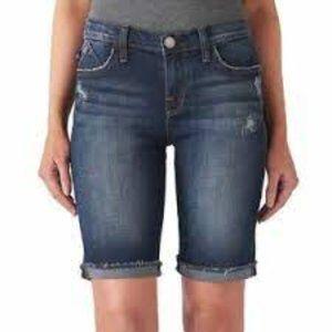 Rock & Republic Kristy Distressed Denim Shorts NWT